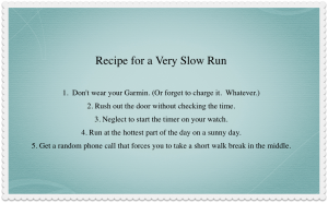 How to run really really slowly