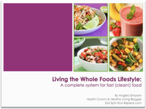 Living The Whole Foods Lifestyle E-Book Cover - Flat