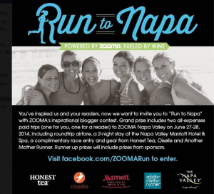 Unplanned 10 miles + Zooma Run to Napa contest