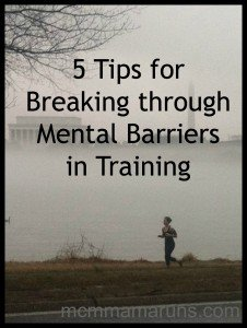 Break through the mental barriers in training