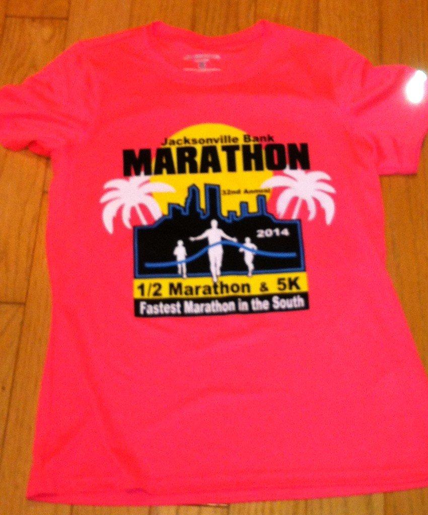 Jacksonville half marathon shirt