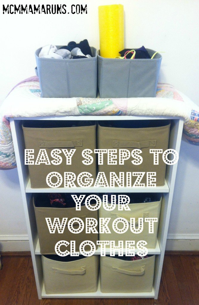 How to organize your workout clothes