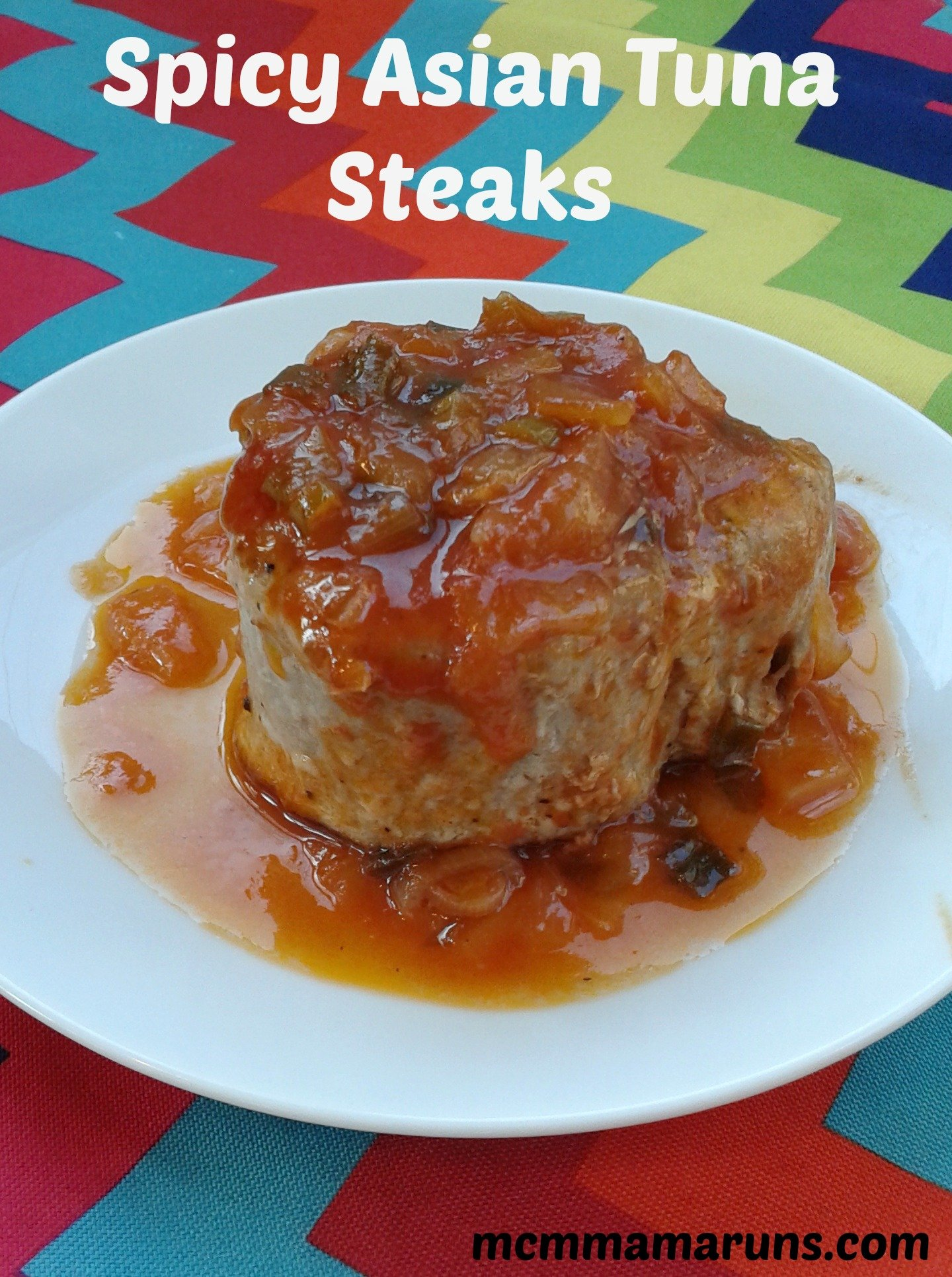 Spicy Asian Tuna Steaks Pin
