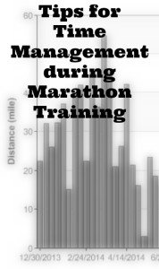 Time Management during Marathon Training