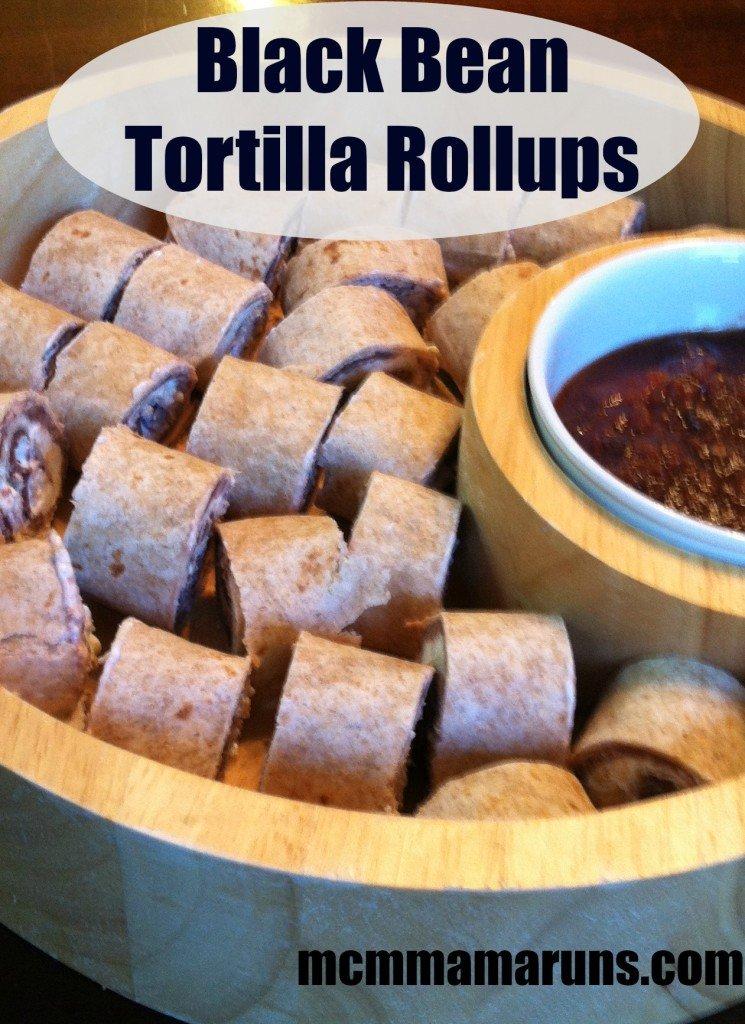 Black Bean Tortilla Rollups