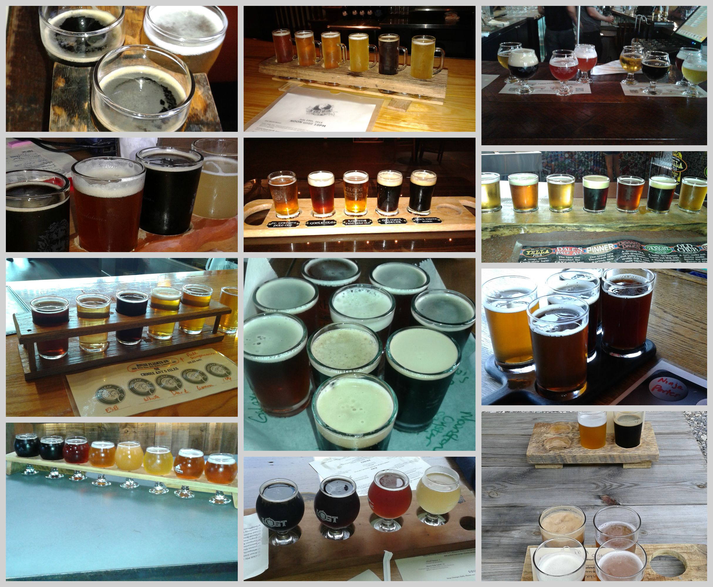 Asheville brewery samplers
