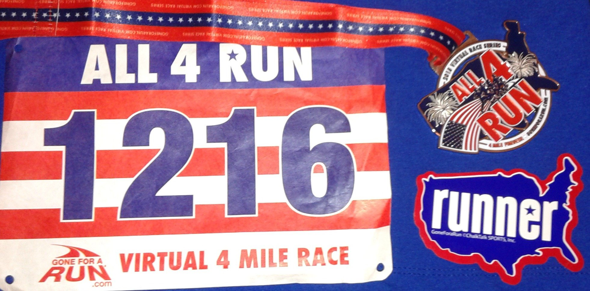virtual race bib medal