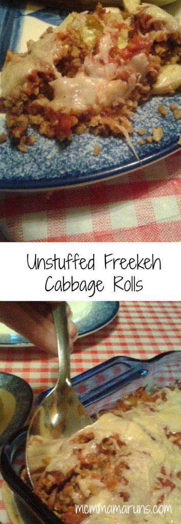 Unstuffed Freekeh Cabbage Rollls