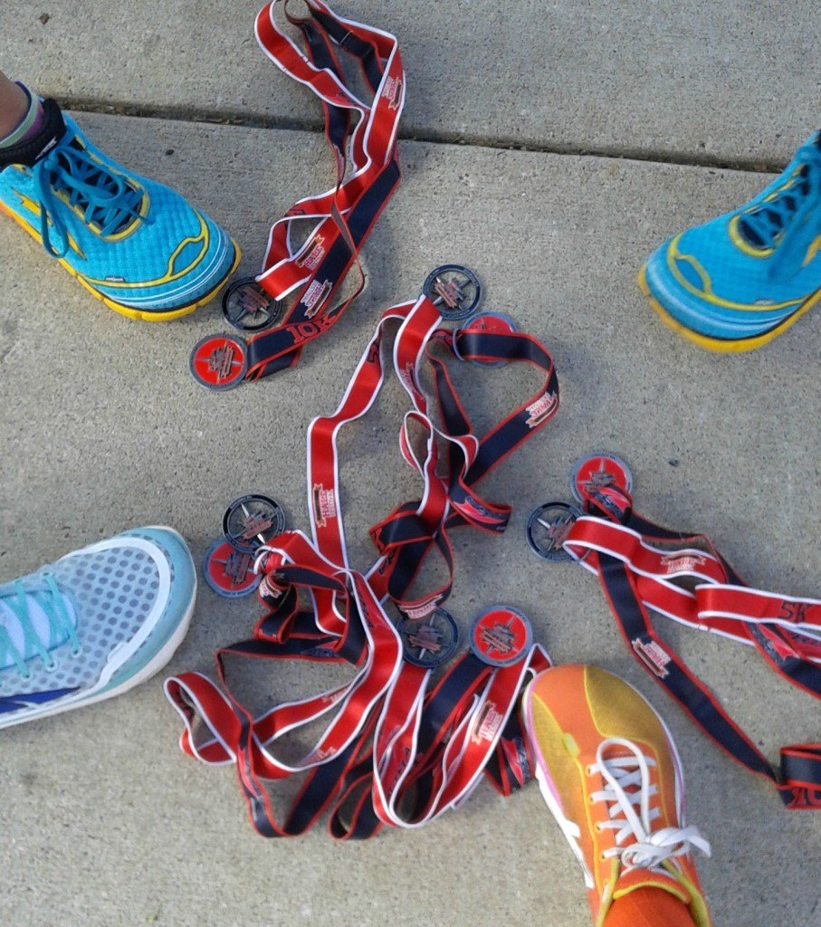 Runners world five and dime medals