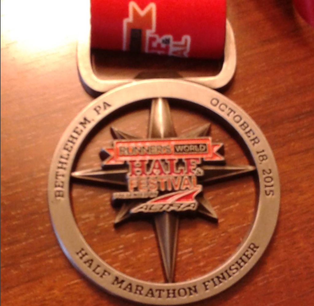 Runner's World Half Marathon medal
