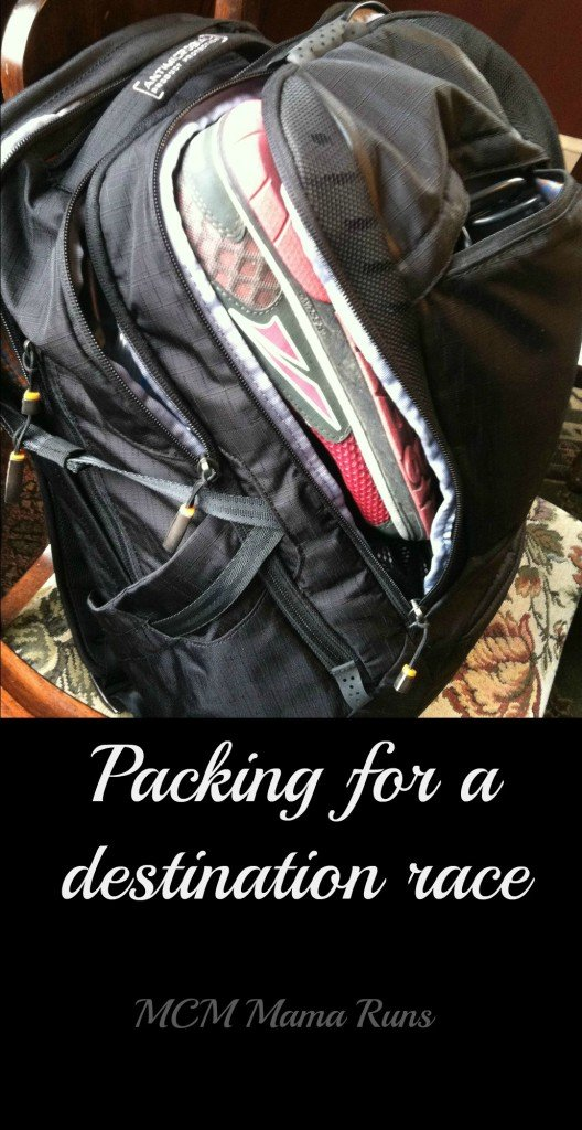Tips for packing for a destination race