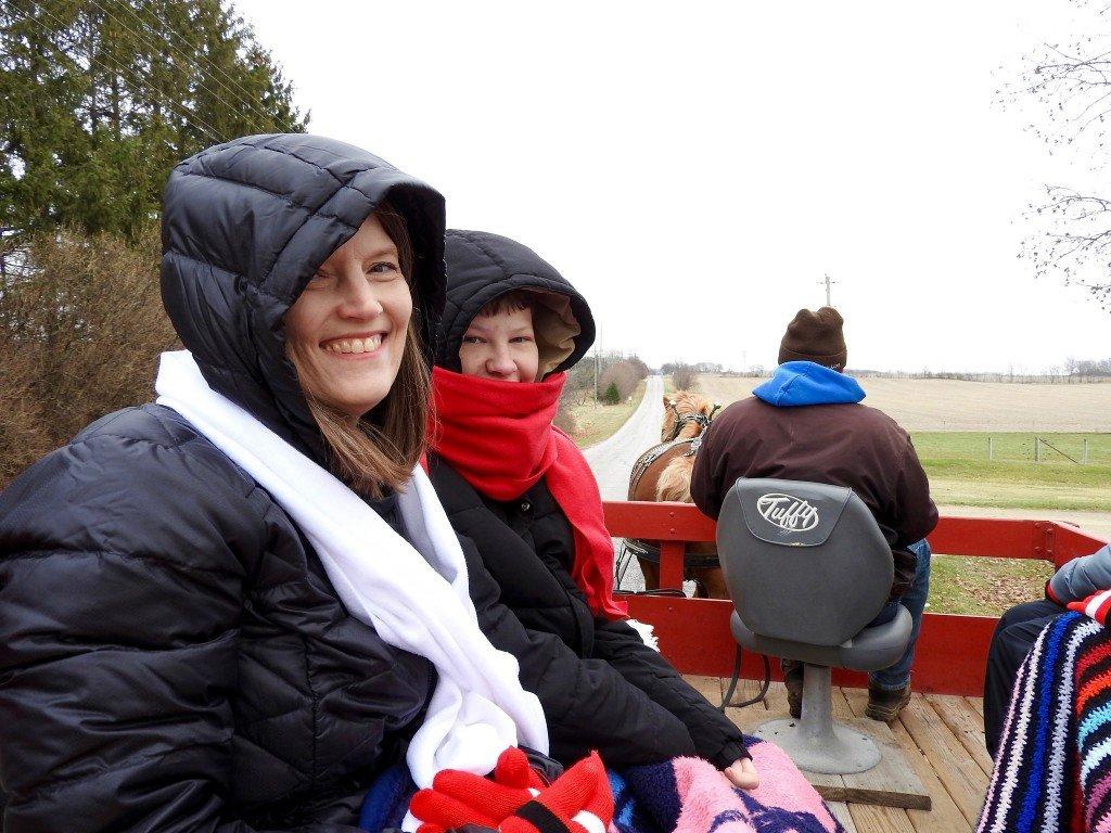 Christmas day wagon ride