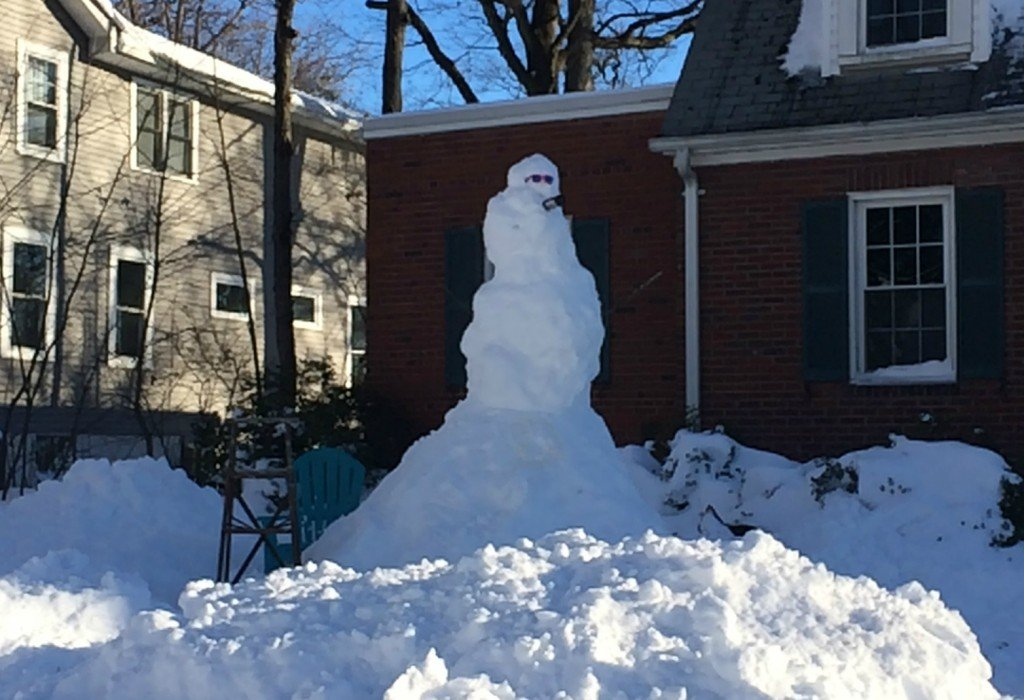 Saturday Snowzilla snowman