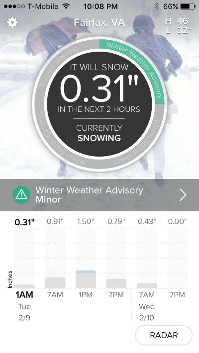 SnowCast App - when will it snow?