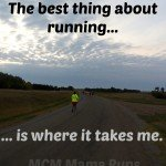 The best thing about running is where it takes me