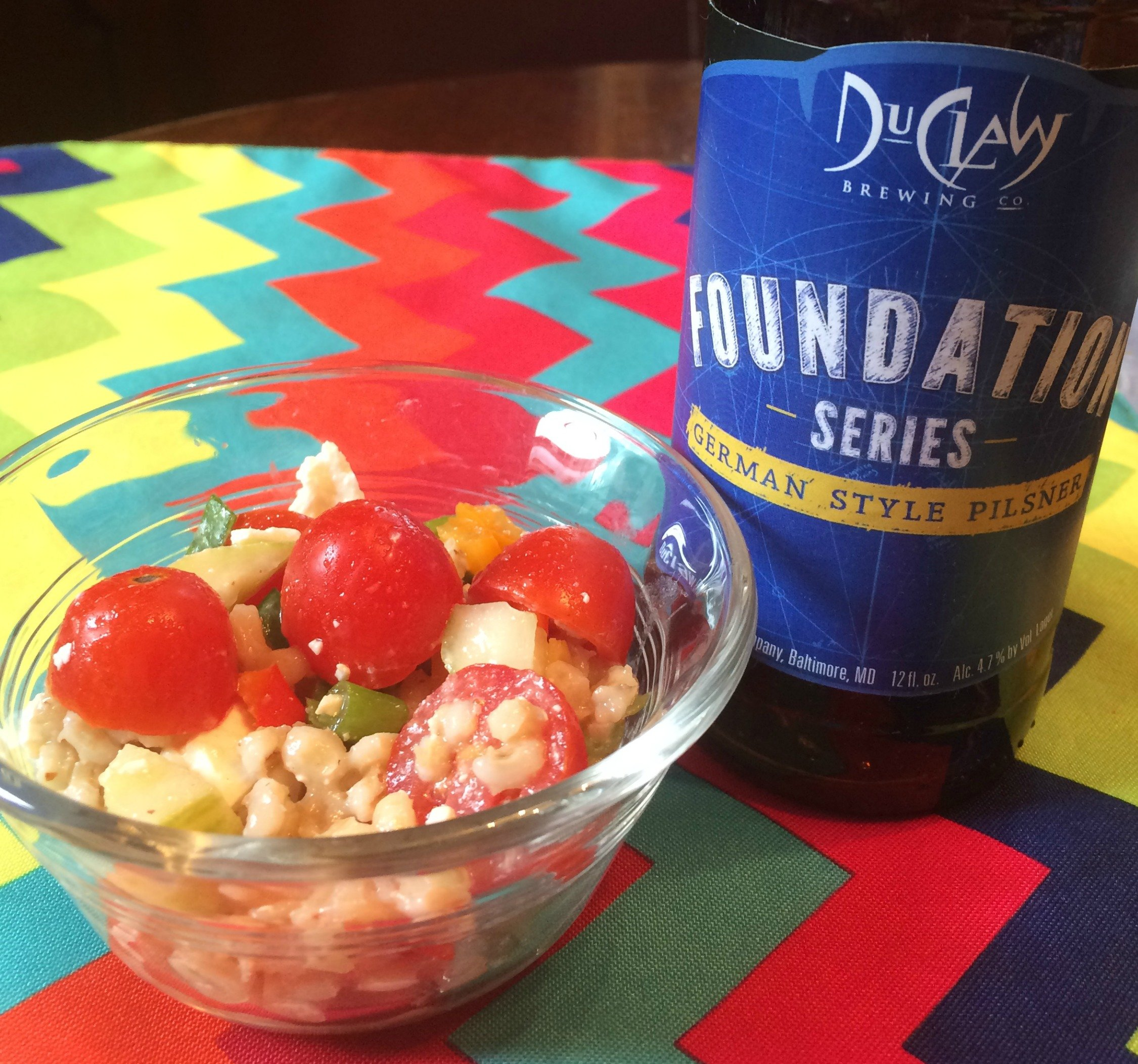 DuClaw German Pilsner and barley salad