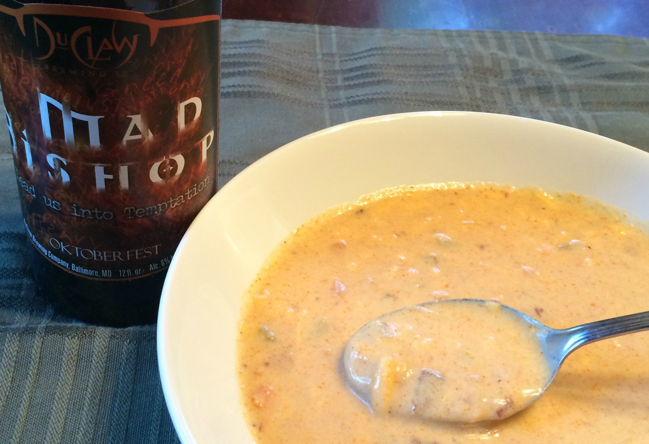 DuClaw Mad Bishop Spicy Beer cheese soup 2