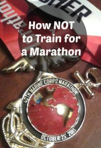 Marathon Training: Do not try this at home