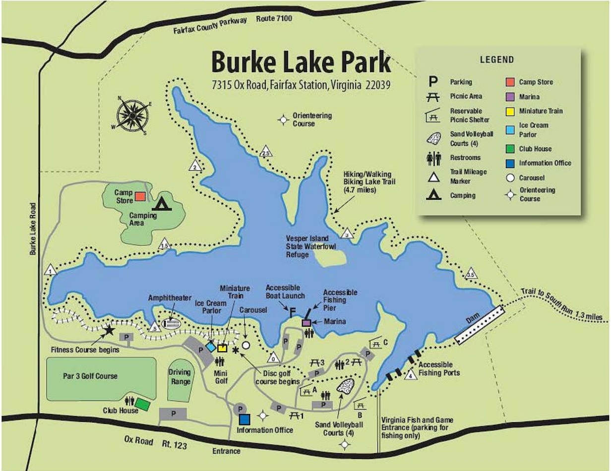 Burke Lake Park trail