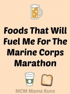 Fueling my way through the Marine Corps Marathon
