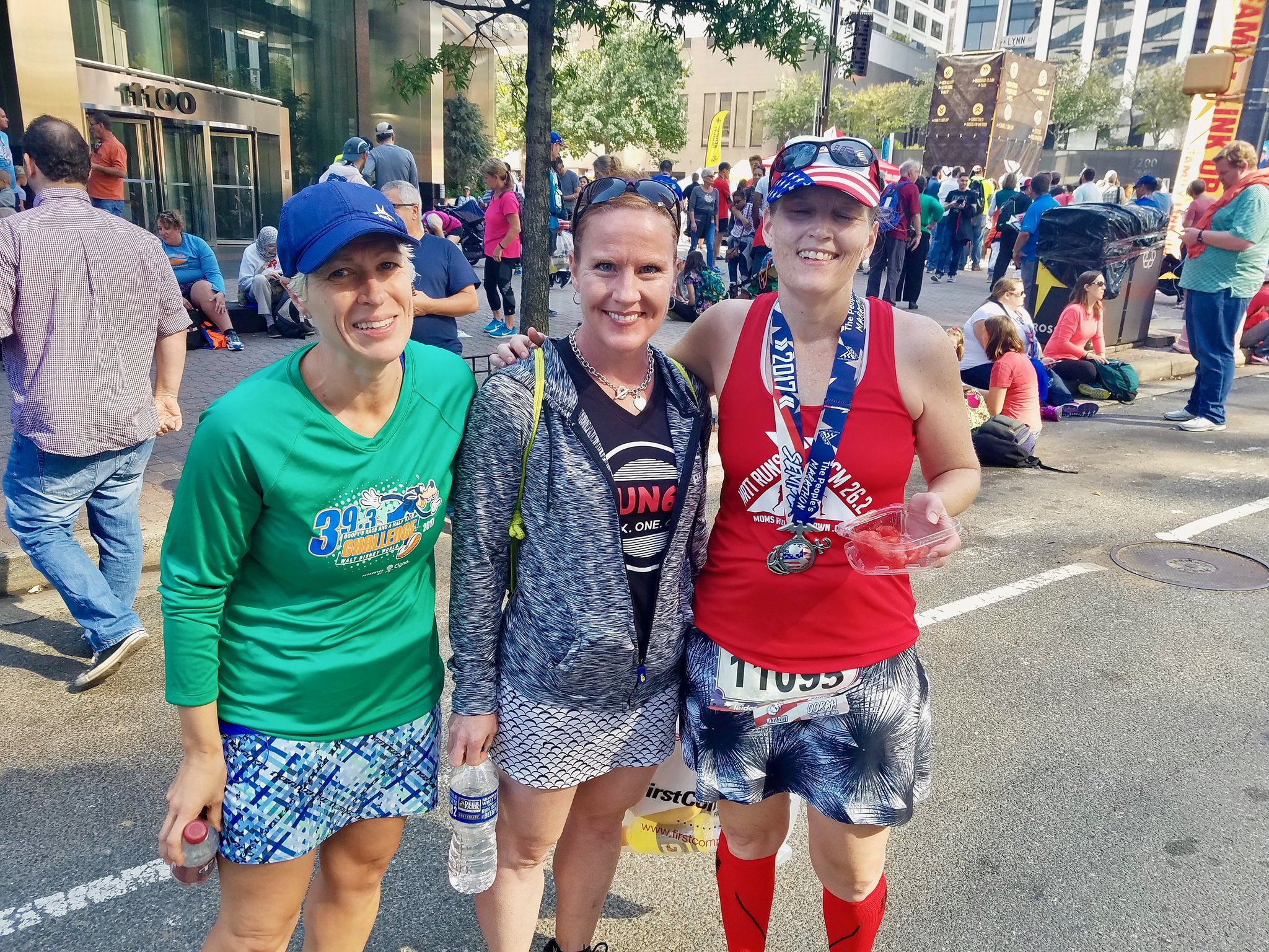 Marine Corps Marathon 2017 friends finish