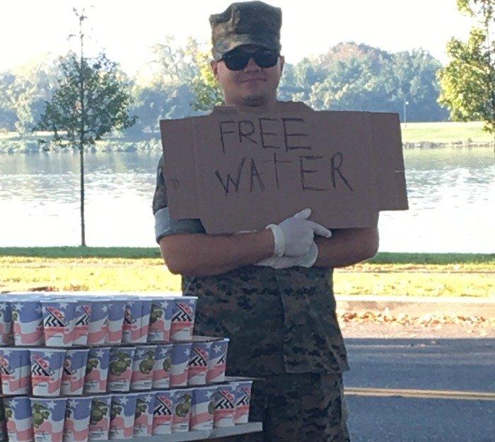 Marine Corps Marathon 2017 free water