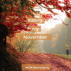 Not every month is about the running