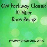 GW Parkway 10 miler race report