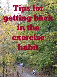 tips for getting back in the exercise habit