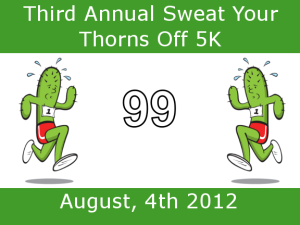 Sweat Your Thorns Off  (Again) Virtual 5k
