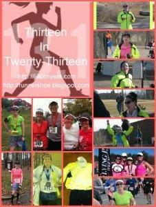 Wrap-up: 13 half marathons in 2013