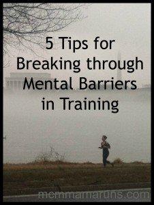 Break through the mental barriers in training