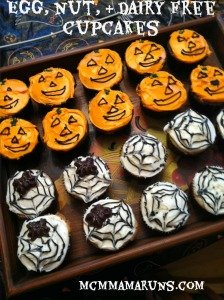 Egg, nut, and dairy free Halloween cupcakes