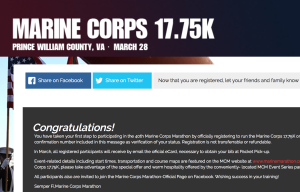 Marine Corps Marathon, here I come!