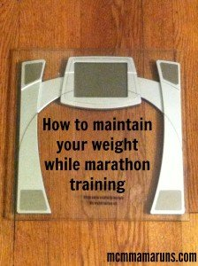 weight loss during marathon training