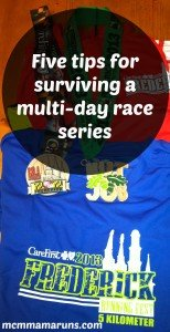 Tips for surviving multi day race events