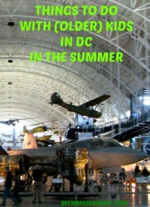 Five things to do with (older) kids in DC in the summer
