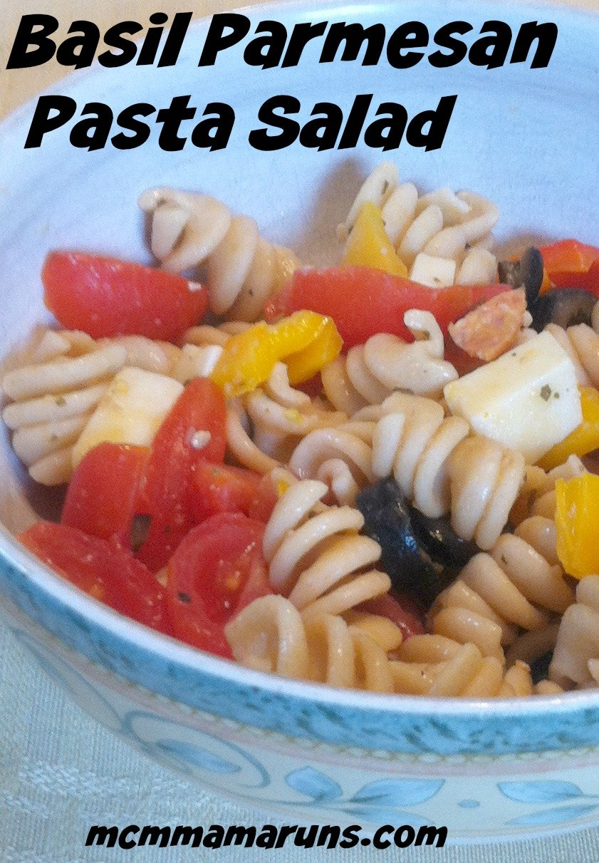 Basil Parmesan Pasta Salad