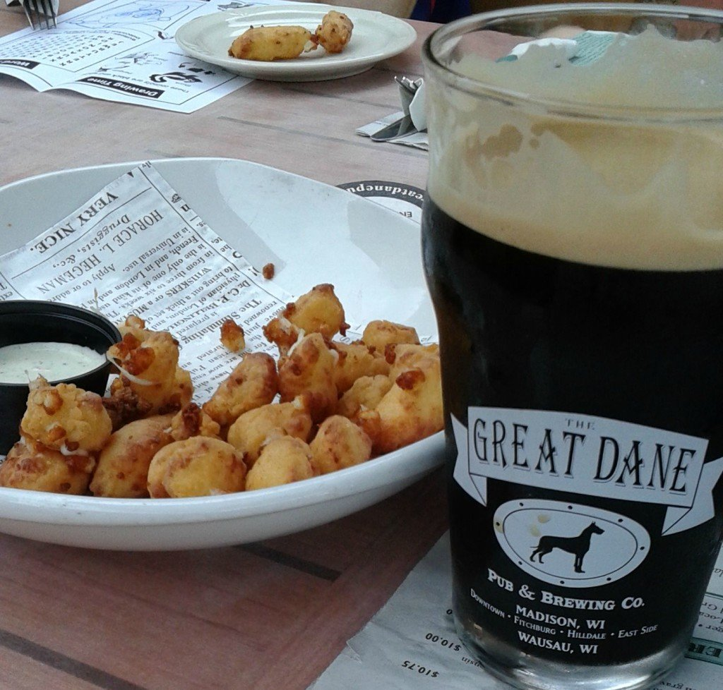 Cheese curds and beer