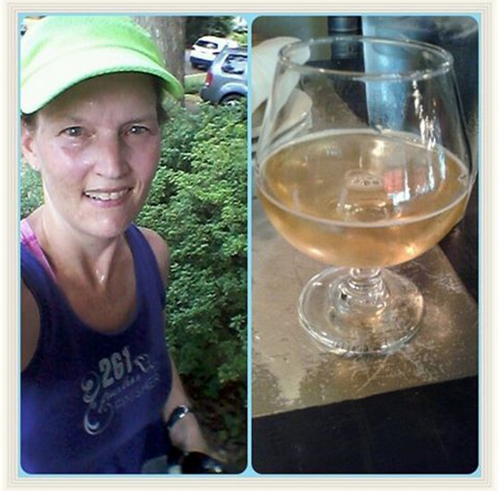 running and beer