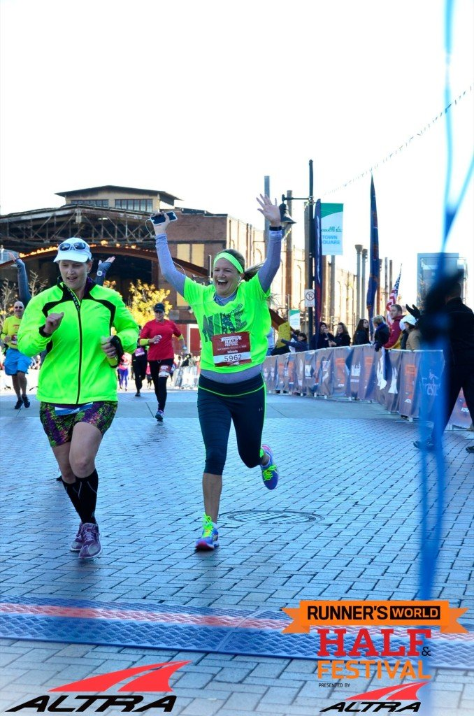 Runners World Half finish