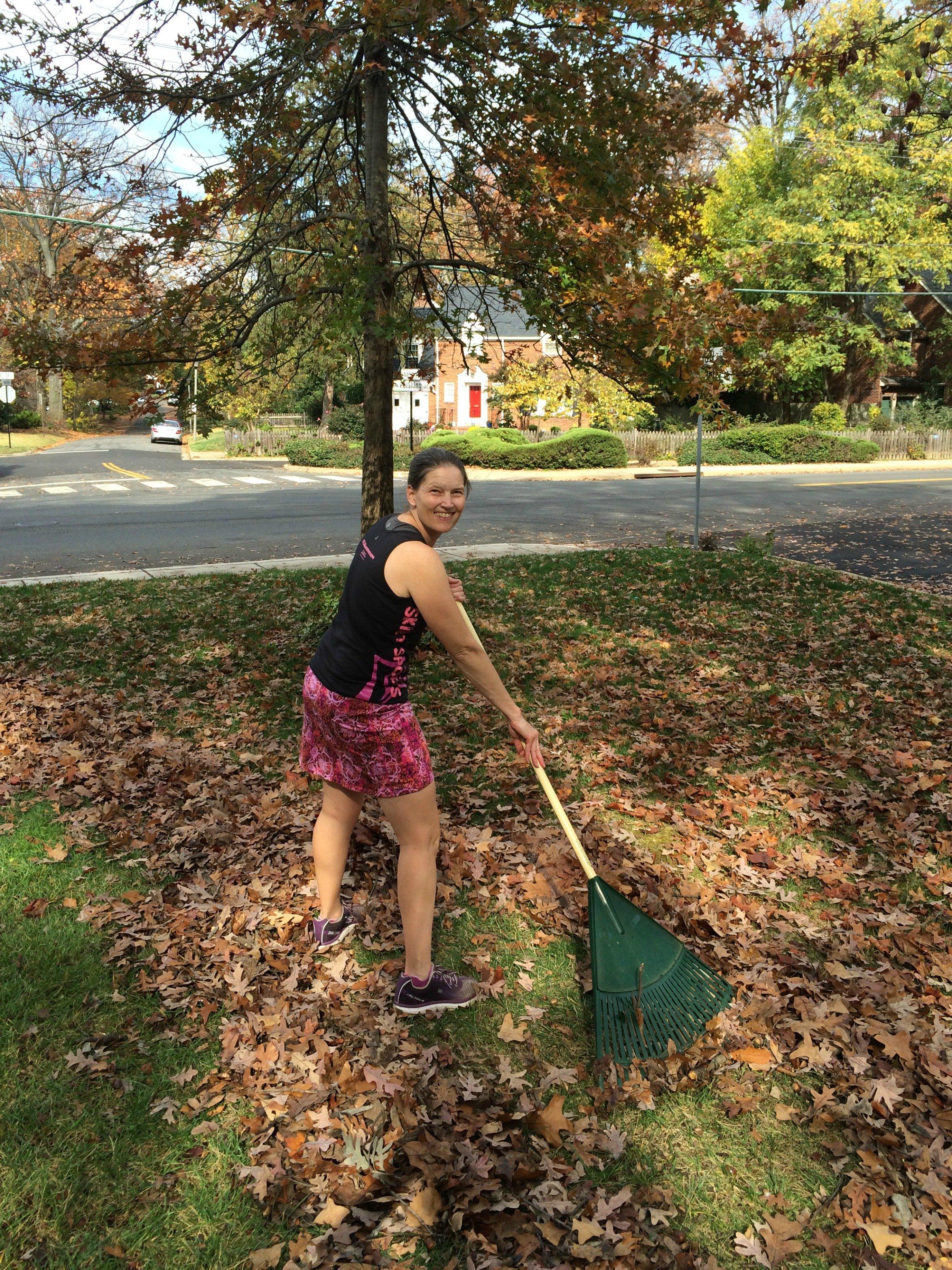 Skirt Sports leaf raking