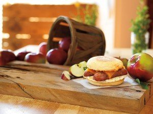 Dunkin' Donuts Chicken Apple Sausage Breakfast Sandwich