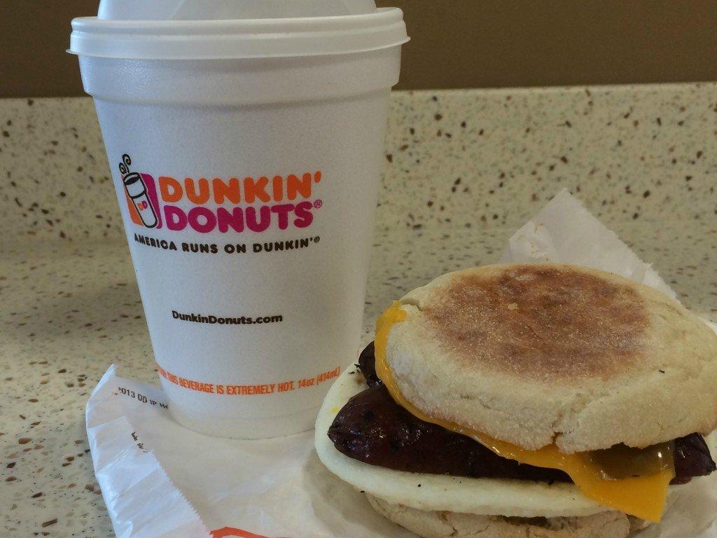 Dunkin Donuts apple sausage breakfast sandwich
