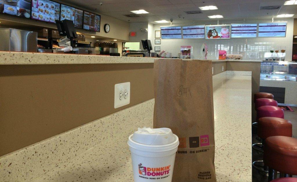 Dunkin' donuts visit
