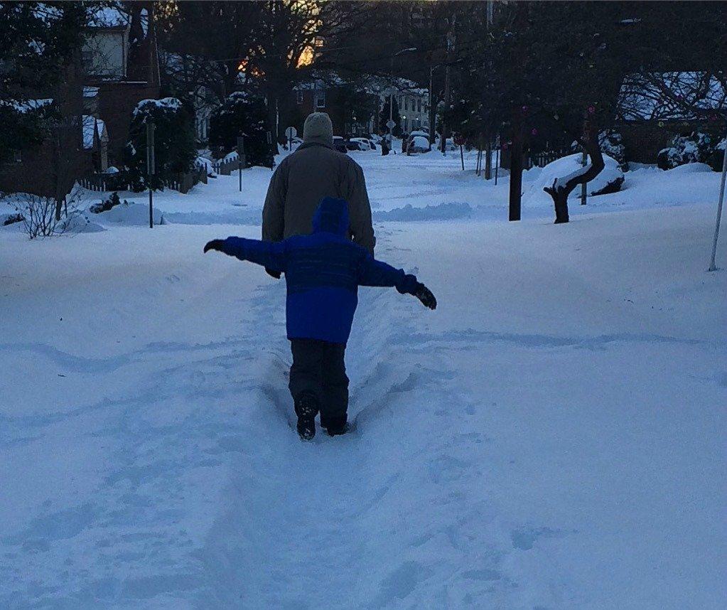 Sunday snowzilla walking