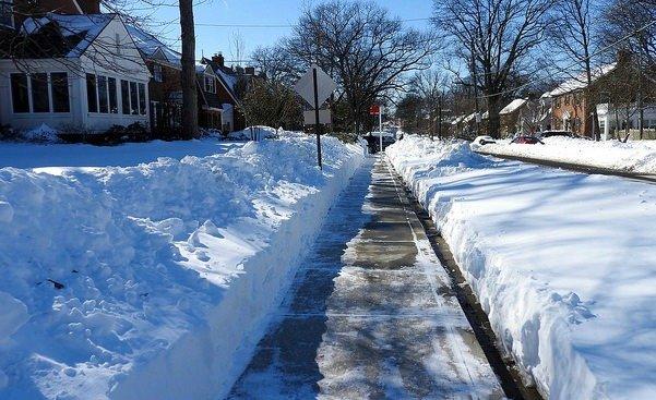 sunday snowzilla sidewalk