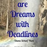 Goals are just dreams with deadlines