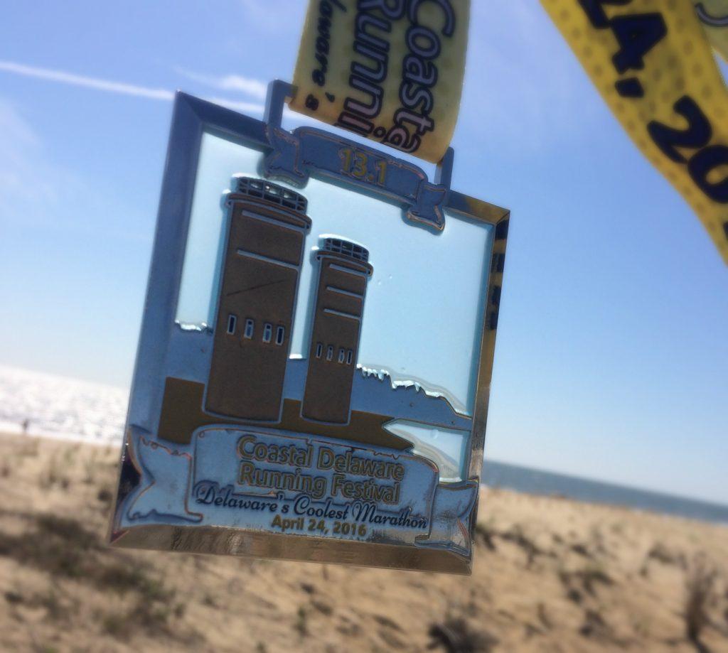 coastal delaware half marathon medal