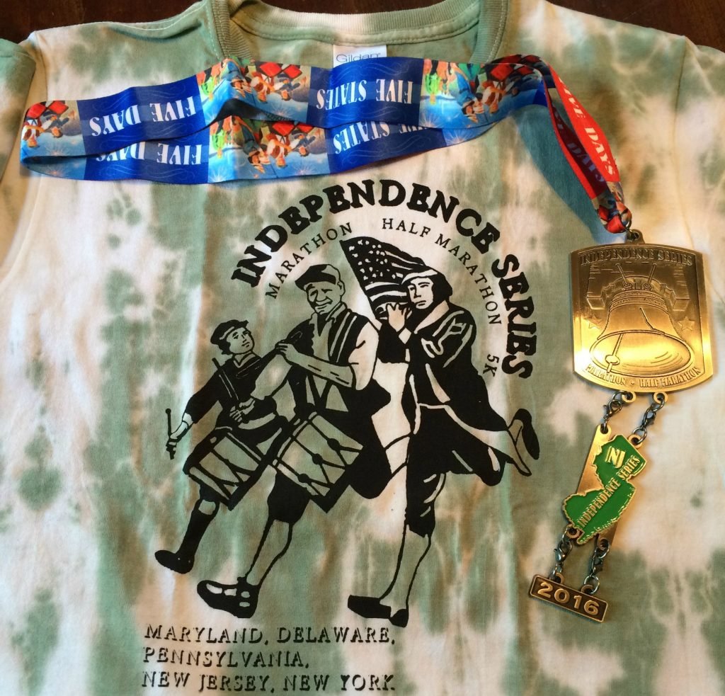 New Jersey shirt and medal